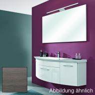 Artiqua Serie 818 Block 9 mit Waschtischunterschrank mit 1 Auszügen und Waschtisch Front graphit struktur quer / Korpus graphit struktur quer