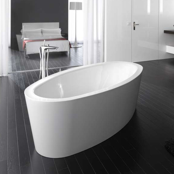 bette home oval silhouette freistehende badewanne wei mit. Black Bedroom Furniture Sets. Home Design Ideas
