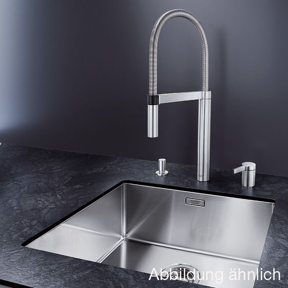blanco culina s duo zweiloch sp ltischmischer ausladung 222 mm brause ausziehbar edelstahl. Black Bedroom Furniture Sets. Home Design Ideas