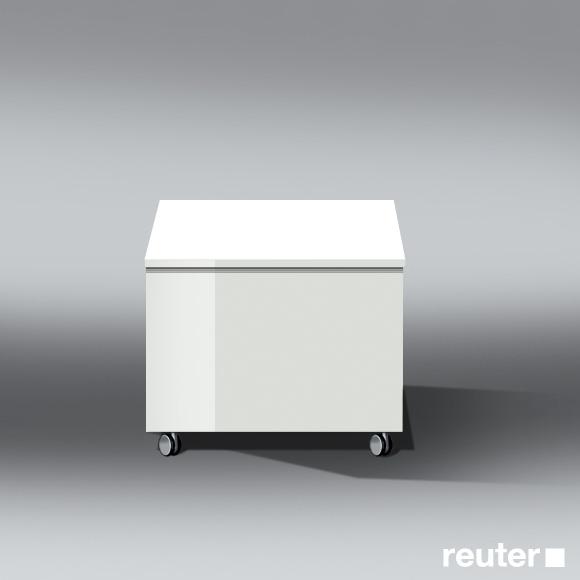 burg bel rollcontainer mit 1 auszug front wei hochgl nzend korpus wei hochgl nzend. Black Bedroom Furniture Sets. Home Design Ideas