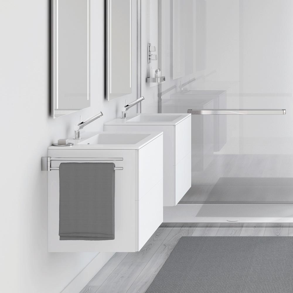 cosmic block evo waschbecken mit unterschrank mit 2 schubladen wei matt wei gl nzend. Black Bedroom Furniture Sets. Home Design Ideas