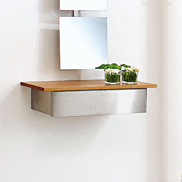 wandkonsole kernbuche. Black Bedroom Furniture Sets. Home Design Ideas