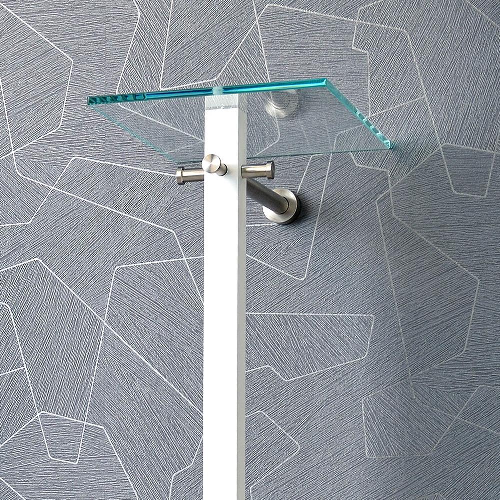d tec lana wandgarderobe mit hutablage glas 884 wh. Black Bedroom Furniture Sets. Home Design Ideas