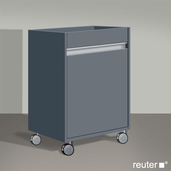 duravit ketho rollcontainer graphit matt kt2530r4949 reuter onlineshop. Black Bedroom Furniture Sets. Home Design Ideas