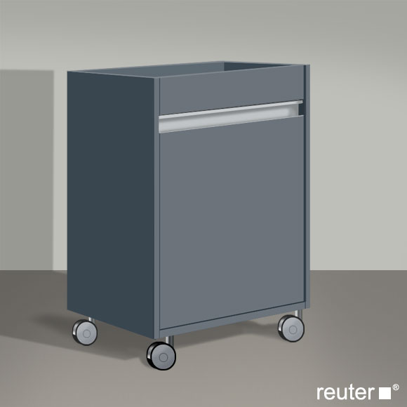 duravit ketho rollcontainer graphit matt kt2530r4949. Black Bedroom Furniture Sets. Home Design Ideas