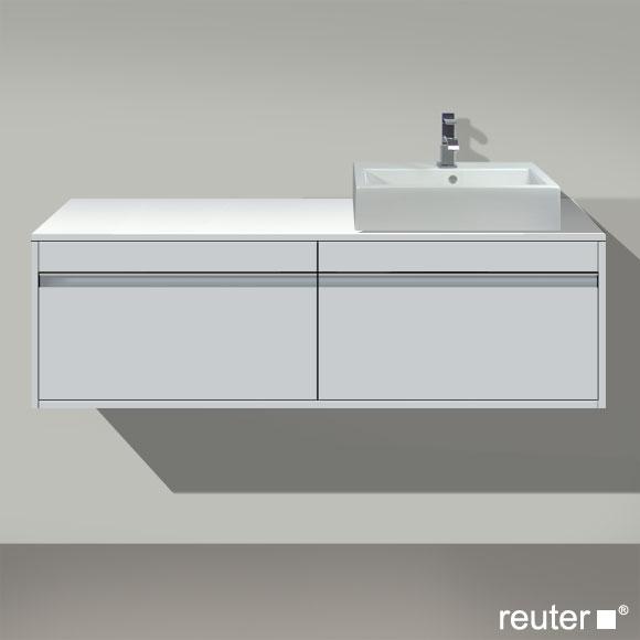 duravit ketho waschtischunterbau f r 1 aufsatzbecken weiss. Black Bedroom Furniture Sets. Home Design Ideas