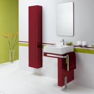 Kludi Esprit Set Waschtisch mit L-Konsole für Waschtisch, Hochschrank, Kristallspiegel
