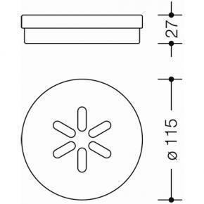 hewi serie 477 einsatz f r seifenhalter reuter onlineshop. Black Bedroom Furniture Sets. Home Design Ideas