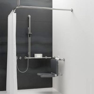 hewi serie 805 einh ngesitz komfort zum einh ngen in duschhandlauf anthrazitgrau. Black Bedroom Furniture Sets. Home Design Ideas