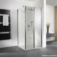 HSK Exklusiv Seitenwand für Pendeltür mit Handtuchhalter klar hell Edelglas / silber matt, WEM 98,5-100,5 cm