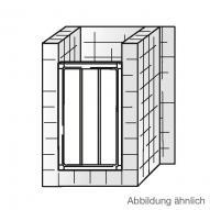 HSK Favorit Gleittür in Nische Kunstglas Tropfen hell / silber matt, WEM 85,5-90,5 cm