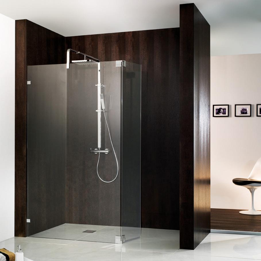 hsk walk in atelier pur duschwand schwenkbarem seitenteil klar hell chrom optik. Black Bedroom Furniture Sets. Home Design Ideas
