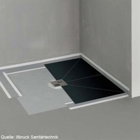 poresta systems Poresta ® BF befliesbares Duschsystem, zentrierter Ablauf, rechteckig