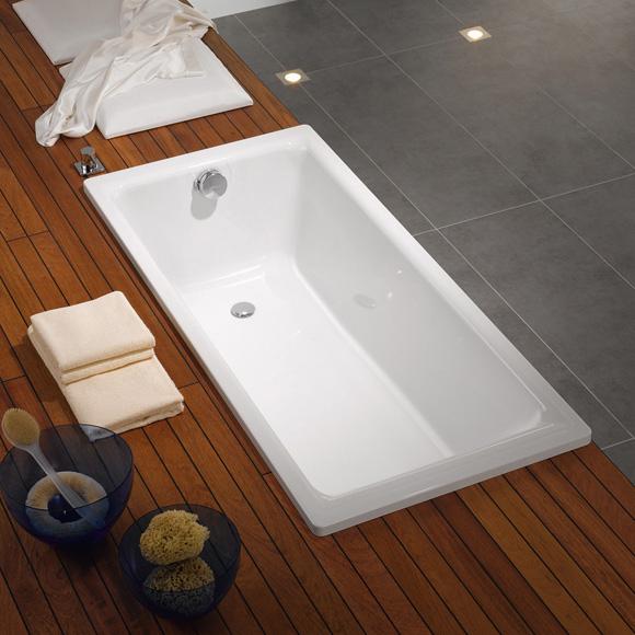 kaldewei puro rechteck badewanne berlauf seitlich wei. Black Bedroom Furniture Sets. Home Design Ideas