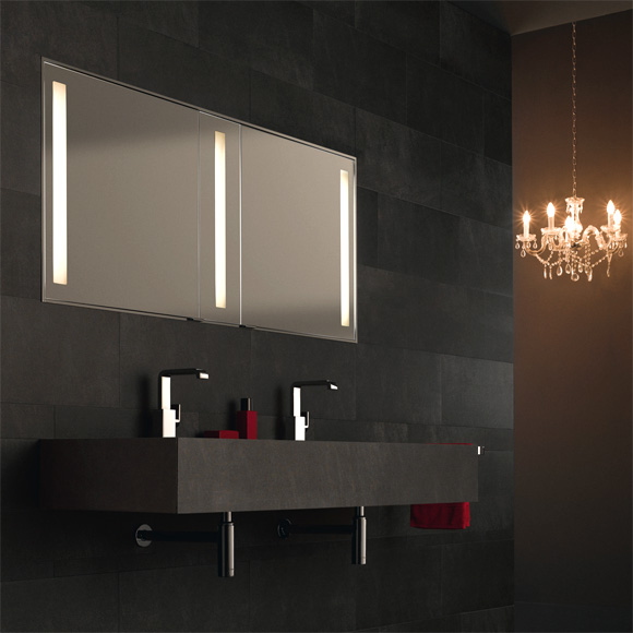 keuco royal integral leucht spiegelschrank f r wandeinbaumontage. Black Bedroom Furniture Sets. Home Design Ideas