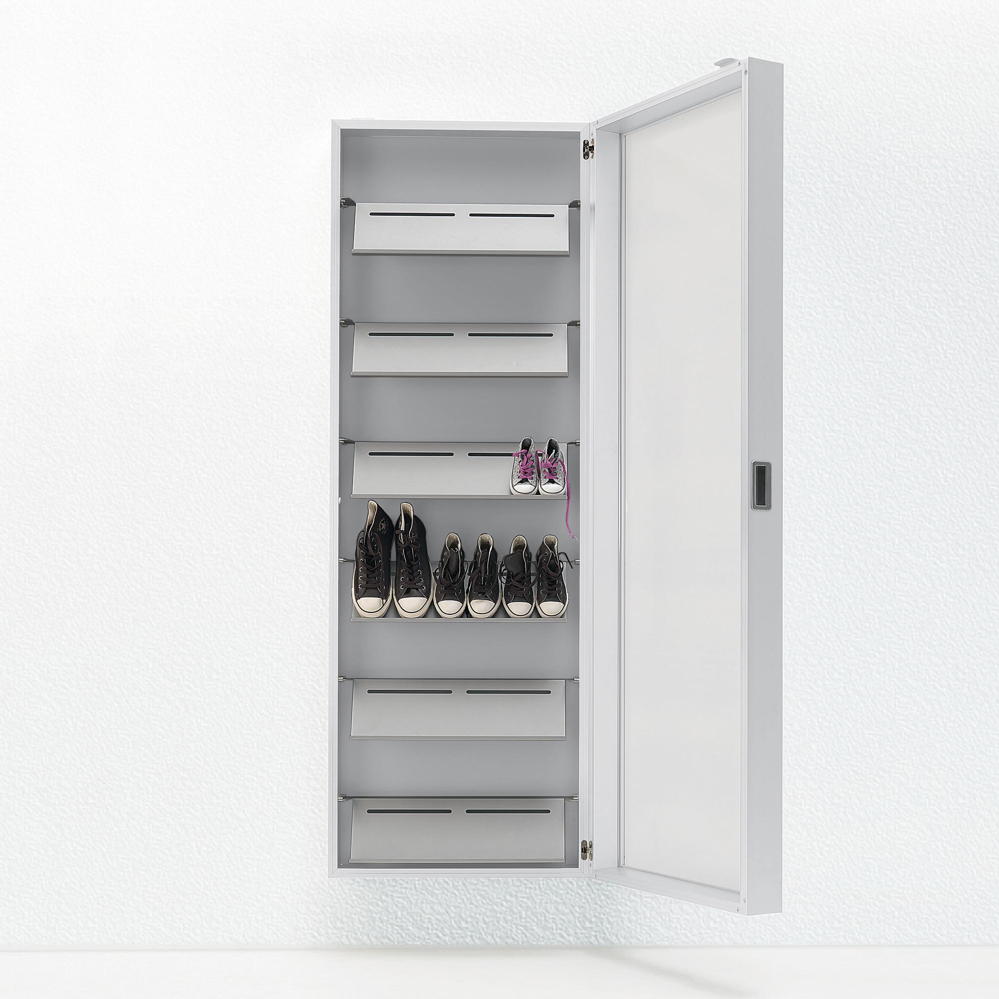 kristalia foot box schuhschrank 20box01 9016 spiegel. Black Bedroom Furniture Sets. Home Design Ideas