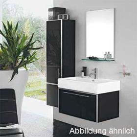 Laufen Case Plus Waschtischunterbau, 1 Schublade Front Glas weiß/Korpus weiß