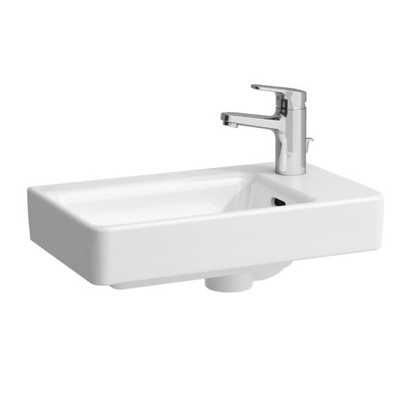 Laufen pro handwaschbecken asymmetrisch wei mit 1 for Meuble laufen pro s
