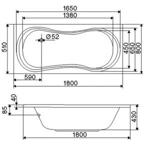 ottofond delphi rechteck badewanne ohne wannentr ger 861301 reuter onlineshop. Black Bedroom Furniture Sets. Home Design Ideas