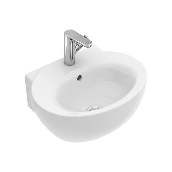 villeroy boch aveo new generation handwaschbecken wei mit ceramicplus mit berlauf 413150r1. Black Bedroom Furniture Sets. Home Design Ideas