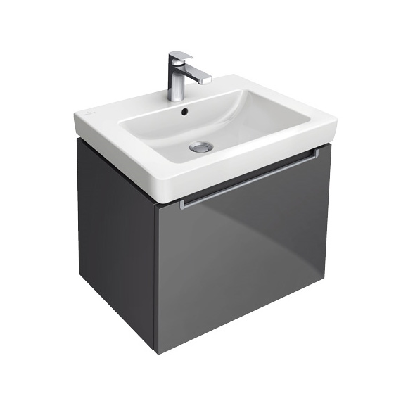 villeroy boch subway 2 0 waschtischunterschrank mit 1 auszug glossy whi. Black Bedroom Furniture Sets. Home Design Ideas