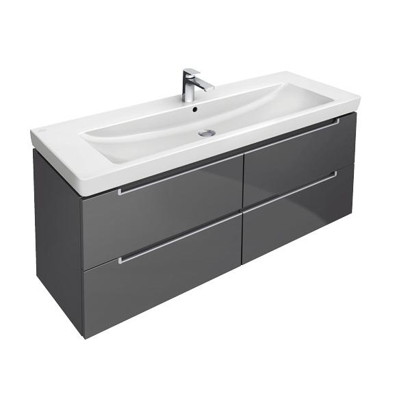 villeroy boch subway 2 0 waschtischunterschrank mit 4 ausz gen glossy w. Black Bedroom Furniture Sets. Home Design Ideas
