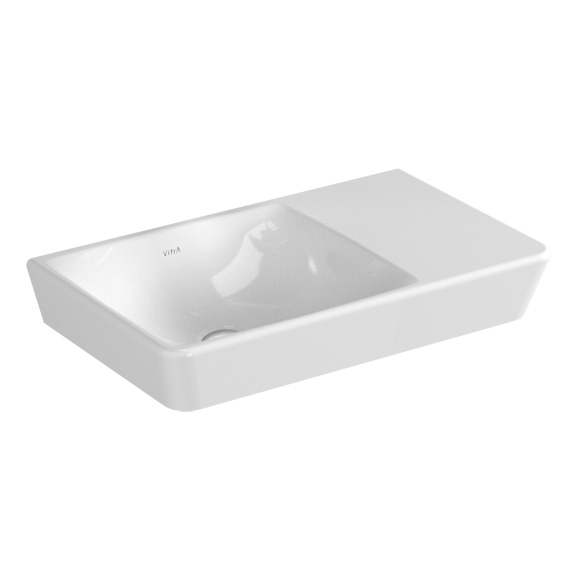 vitra t4 compact waschtisch becken links wei ohne hahnloch 4458b003 0016 reuter onlineshop. Black Bedroom Furniture Sets. Home Design Ideas